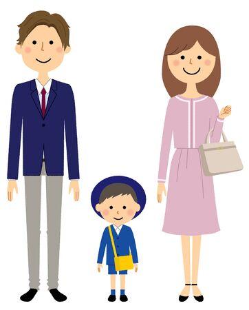 Family, Entrance ceremony, Preschool Vektorgrafik