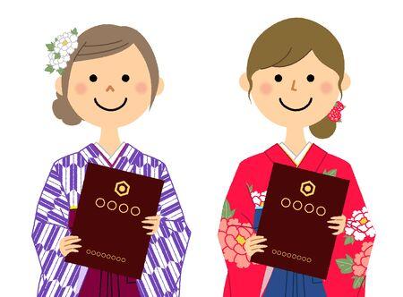 Graduation,Japanese skirt for formal wear (Hakama)