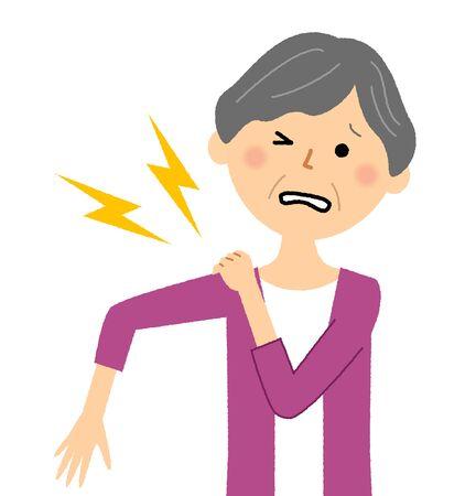 Elderly Woman, Shoulder Pain
