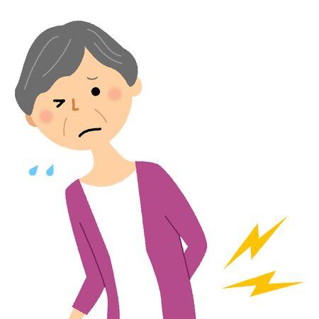 Elderly woman, Backache