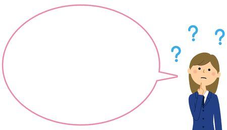 Student in Doubt, Speech Bubble
