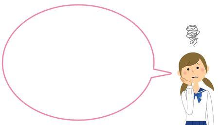 Troubled Student, Speech Bubble