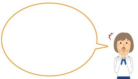 Surprised Student, Speech Bubble Ilustracja