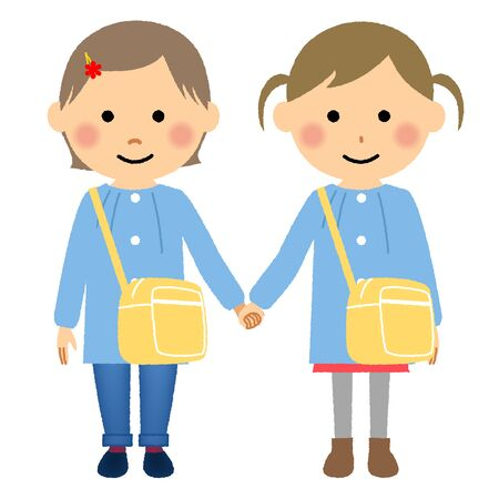 Children Holding Hands, Children, Infants Illustration