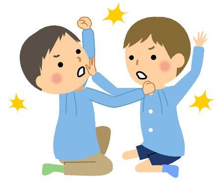 Fighting children, children, infants