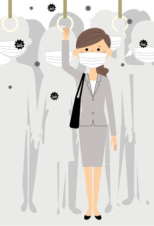 Businesswoman, Commuter Train