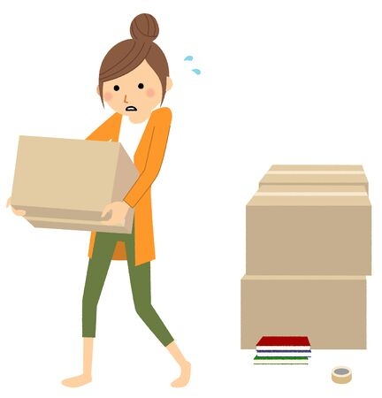 Young woman, Moving