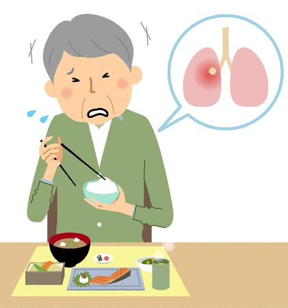 Elderly people who aspirated during a meal