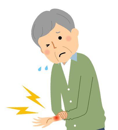 Elderly Man, Wrist pain