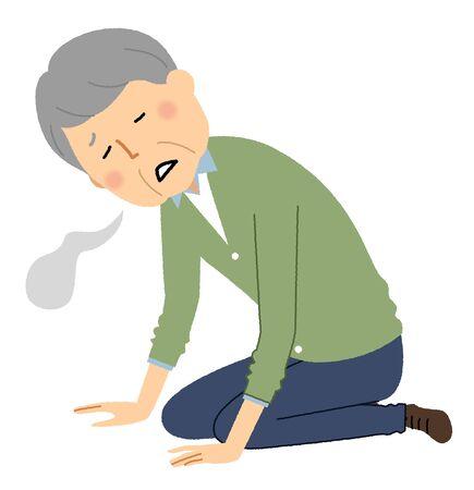 Elderly man, Malaise