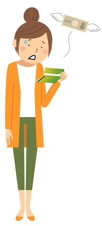 A stunned woman looking at a savings bankbook