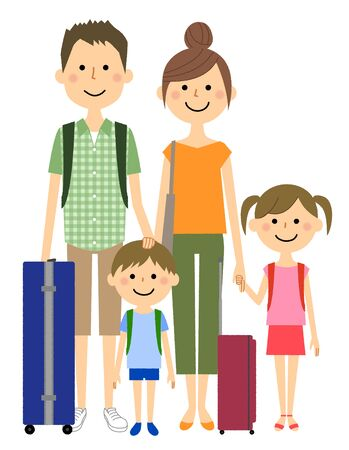 Good family to travel 向量圖像