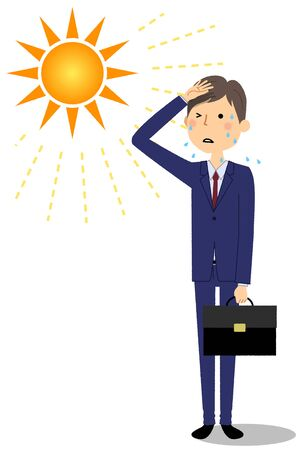Businessman likely to have heat stroke