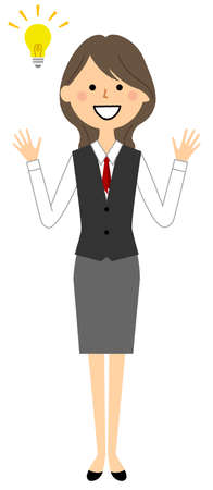 It is an illustration of an inspired woman in a uniform.