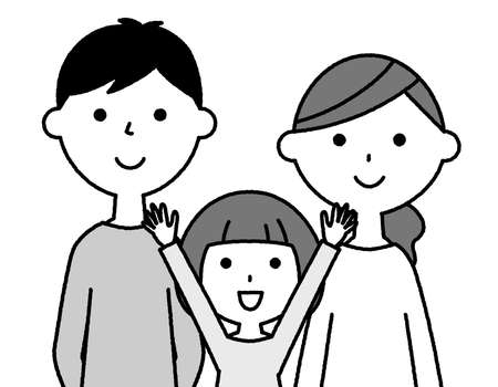 It is an illustration of a family of three who are close friends.