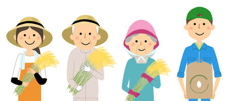 It is an illustration of rice farmers.