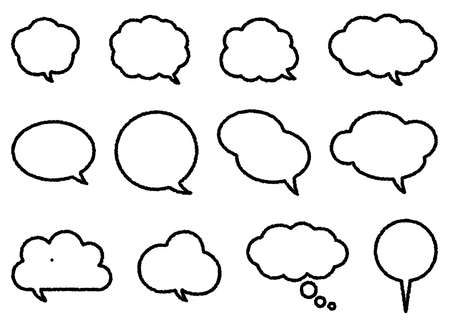 It is an illustration of speech bubble. Ilustrace