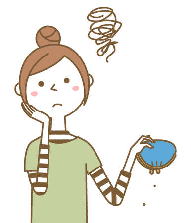 It is an illustration of a young woman who is in trouble with money.