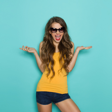 Shouting Girl In Sunglasses