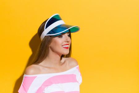 visor: Portrait In Blue Sun Visor