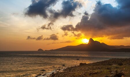 con dao: Sunset on a Con Dao Island. Vietnam Stock Photo