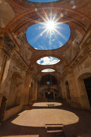 Convent Santa Clara. Old monastery ruins in Antigua Guatemala.