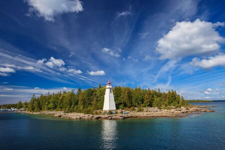 Big Tub Lighthouse located in the Bruce Pininsula of Tobermory, Ontario, Canada.