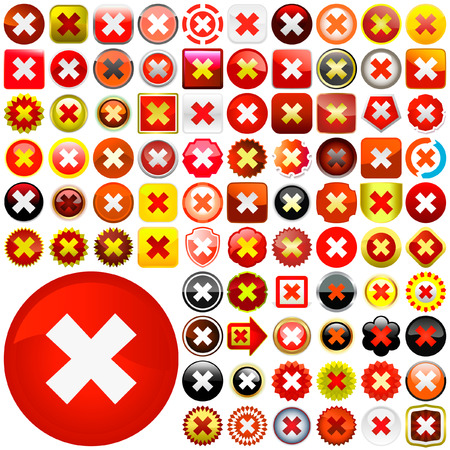 Rejected vector buttons.    Stock Vector - 6084418