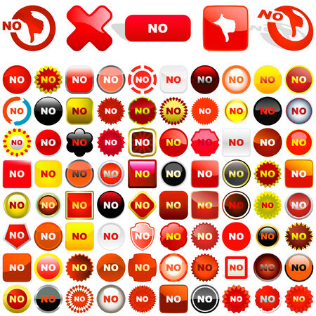 disapprove: Rejected vector buttons.