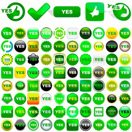 preferencia: Botones de vector aprobado.    Vectores
