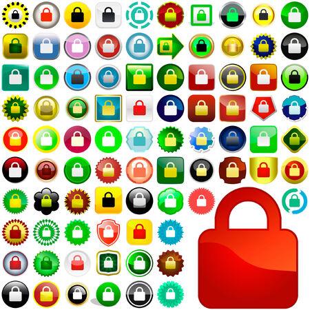 trust icon: Lock icon. Vector set for web.