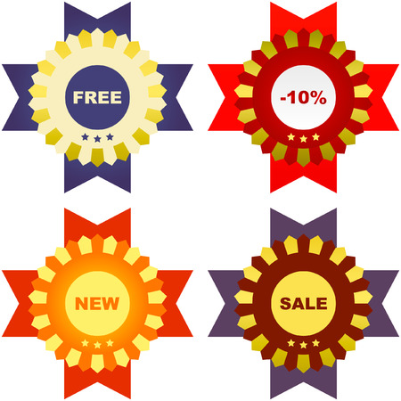 Vector collection of sale labels Stock Vector - 6083920