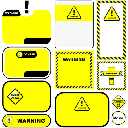 Warning vector label. Vector template. Stock Vector - 6084081