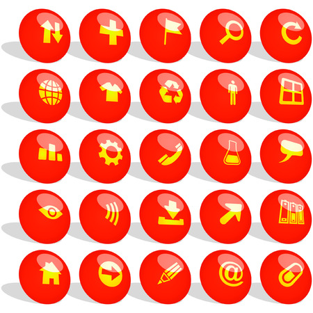 Vector collection of web buttons Stock Vector - 6084127