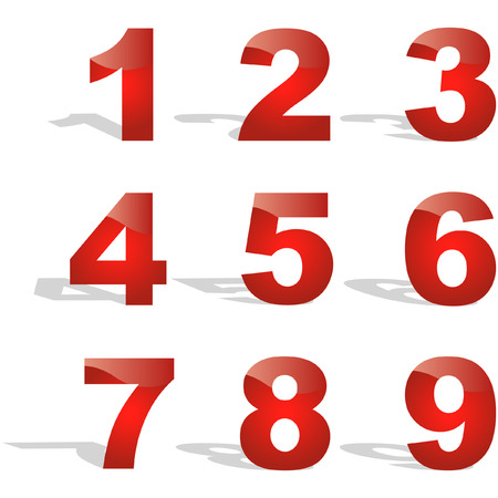 Number icons. Vector set. Stock Vector - 6083823