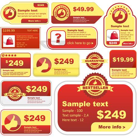 hot announcement: Gran colecci�n de vector de signos de venta