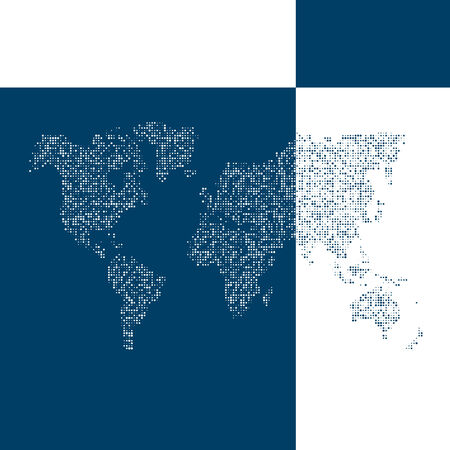 Vector map of the world. Business background.   Vector