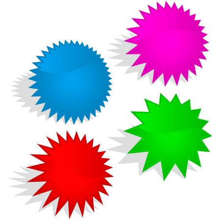 bursts: Insieme di elementi grafici. Illustrazione vettoriale  Vettoriali