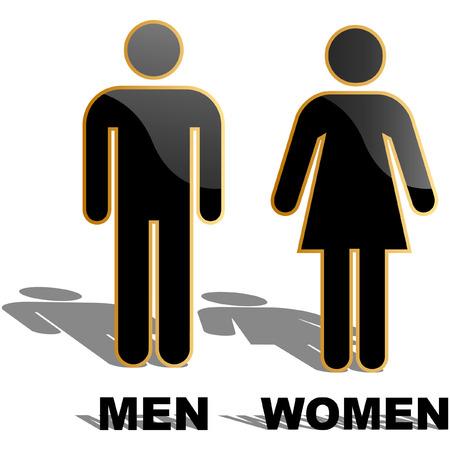 Men and women icons. Graphic elements set. Vetores