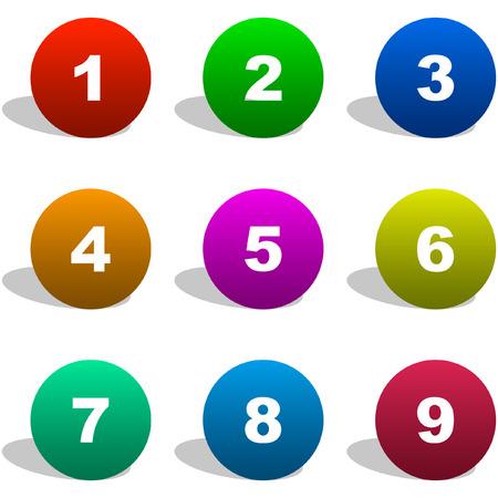 cyfra: Liczba ikon. Zestaw wektorowe.    Ilustracja