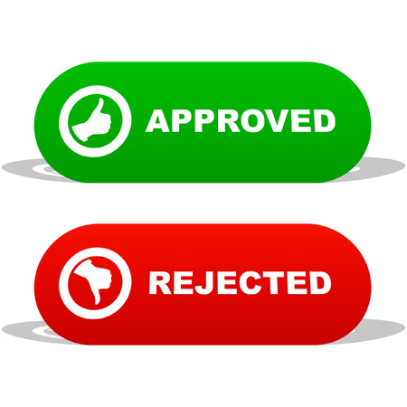 Approved and rejected icons.    Stock Vector - 6083829