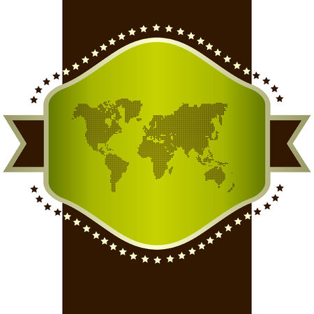 Vector map of the world. Vector template. Stock Vector - 6084446