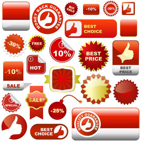 promo: Insieme di elementi di design per la vendita. Grande raccolta.