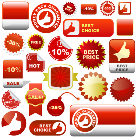 Set of design elements for sale. Great collection. Stock Vector - 6084303