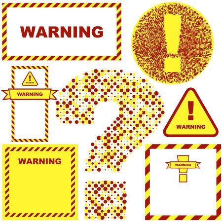 Warning vector banner. Vector template.    Stock Vector - 6084373