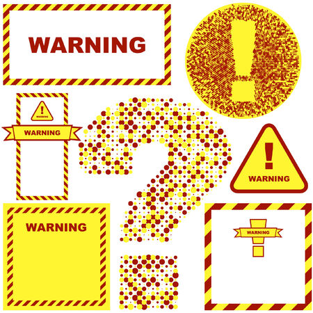 ejaculation: Warning vector banner. Vector template.