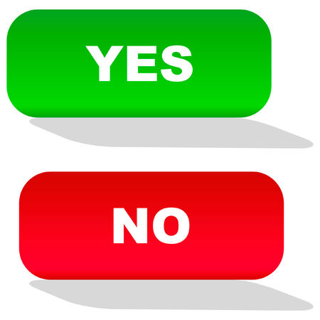 Yes and No icon. Vector beautiful icon set. Stock Vector - 6083869