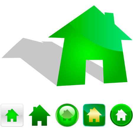 Home icons. Graphic elements set. Stock Vector - 6084000