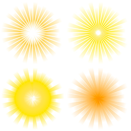 radial: Sunburst abstract vector.   Illustration