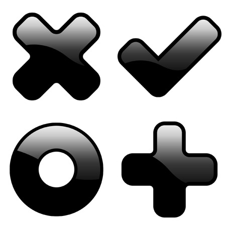 Vector beautiful icon set Stock Vector - 6083879